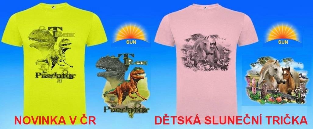 Trička měnící barvu na slunci