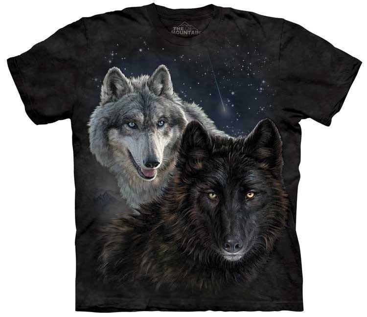 Oblečení s potiskem vlka
