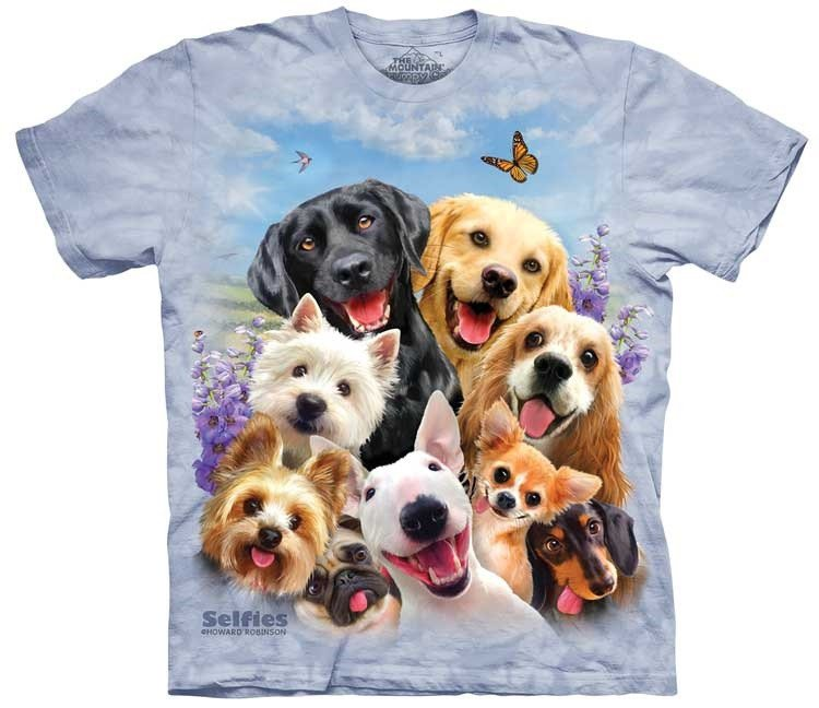Oblečení s potiskem psa