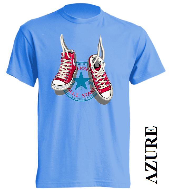 Dětská trička azurově modrá