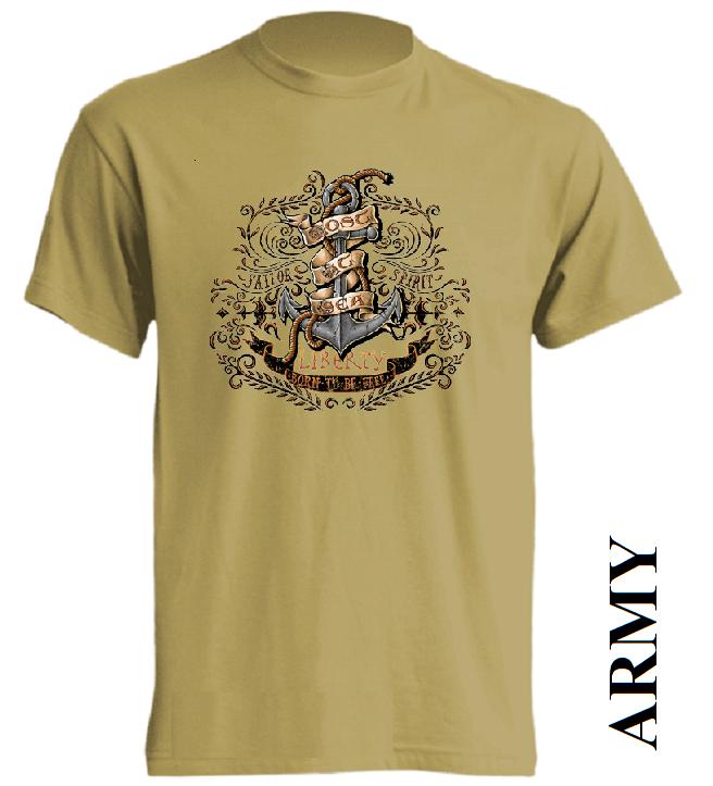 Army hnědá trička