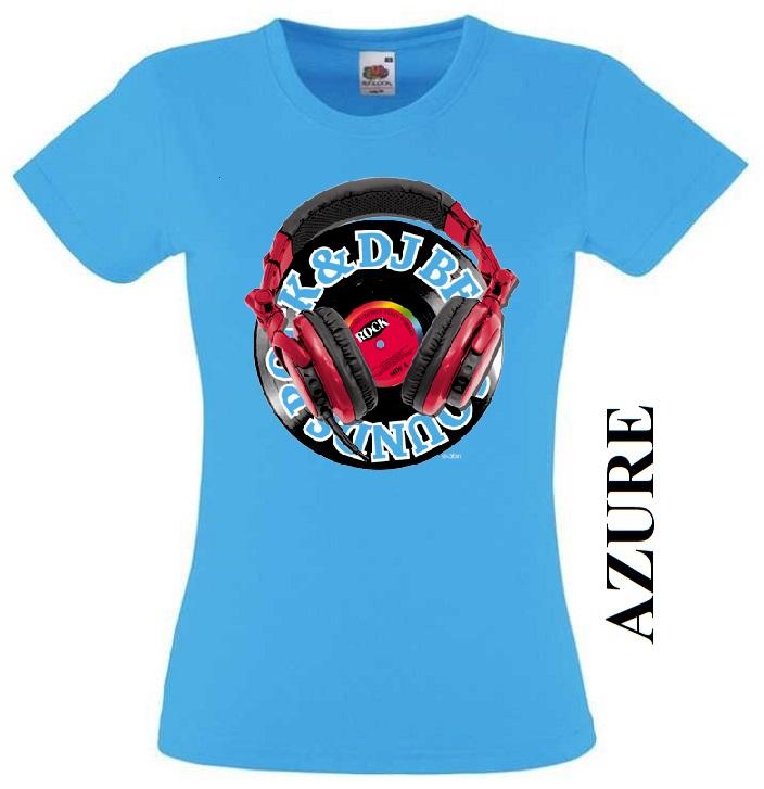 Azurově modré dámské 3D tričko