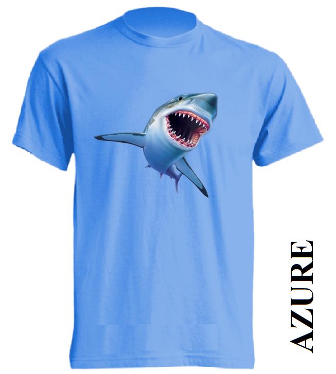 Azurově modrá pánská 3D trička