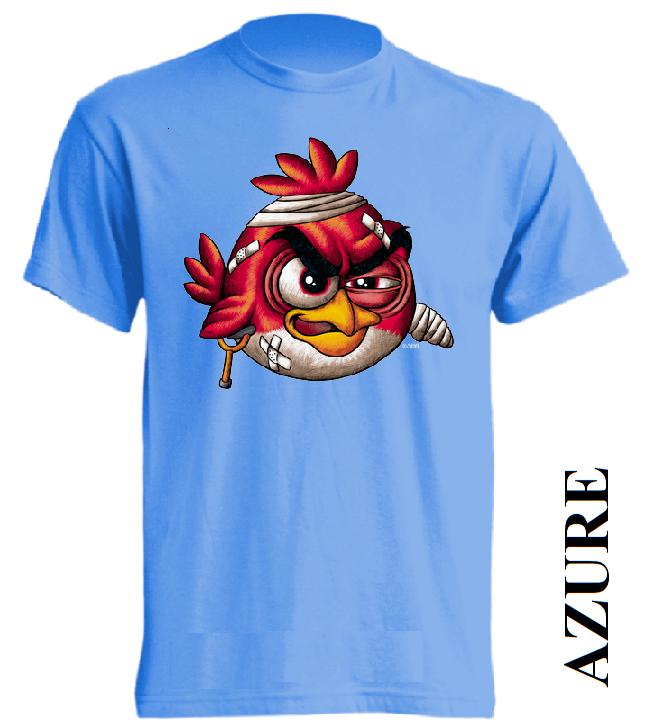 Azurově modré dětské 3D tričko