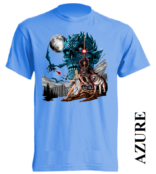 Azurově modrá trička