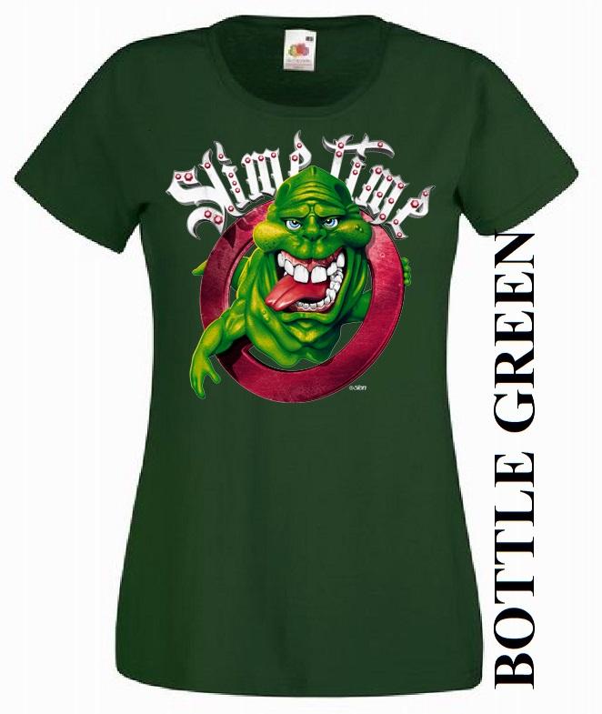 Tmavě zelené dámské 3D tričko