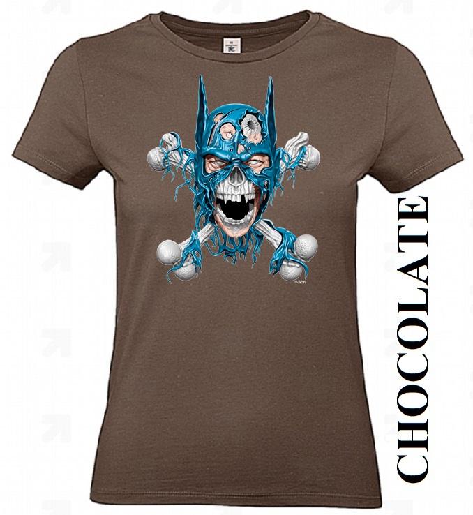 Čokoládově hnědé dámské 3D tričko