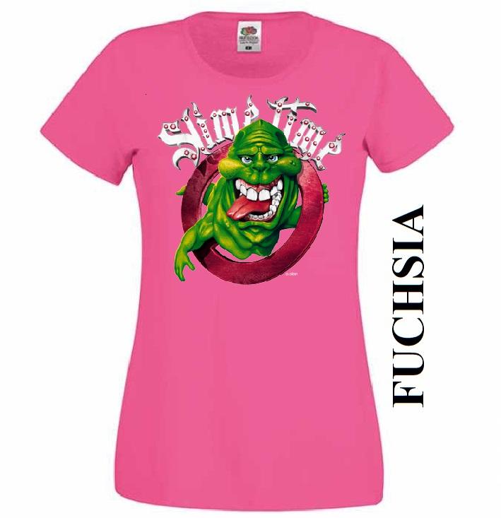 Tmavě růžové dámské 3D tričko