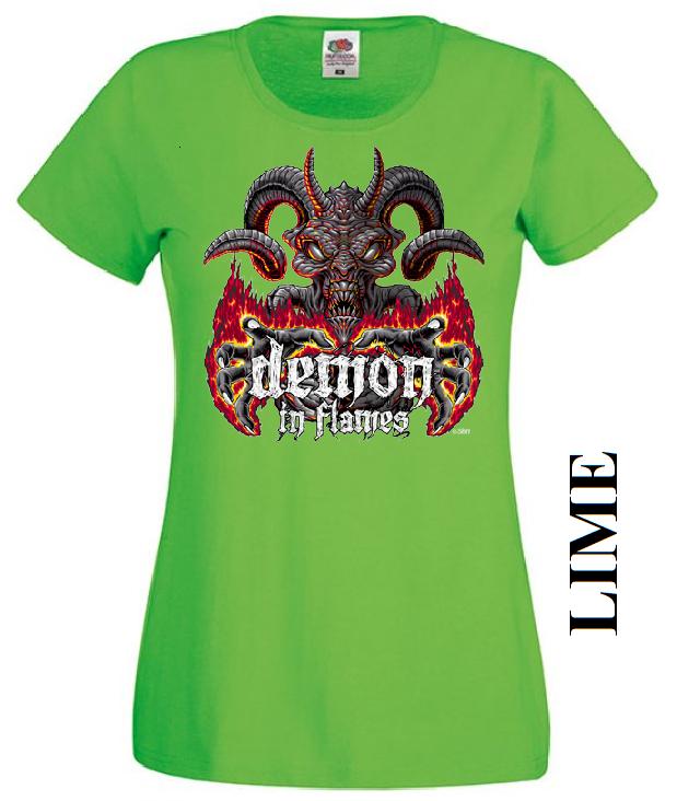 Limetkově zelené dámské 3D tričko