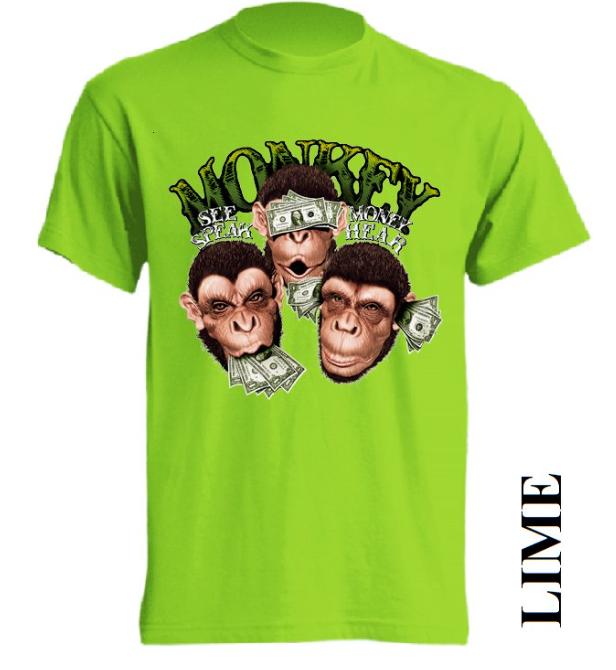 Limetkově zelená trička