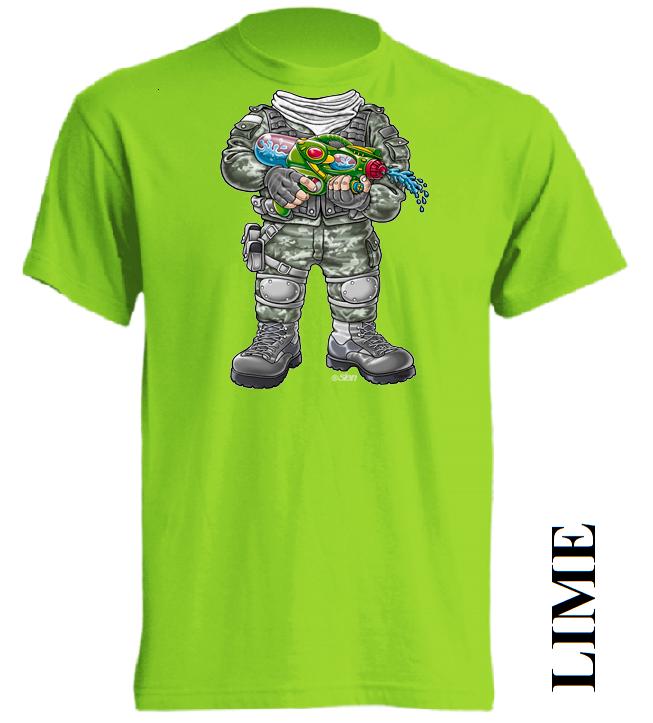 Limetkové dětské 3D tričko