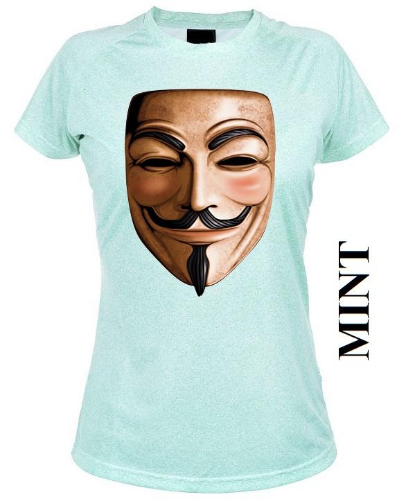 Mintově zelené dámské 3D tričko