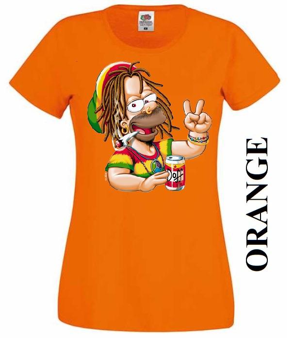 Oranžové dámské 3D tričko