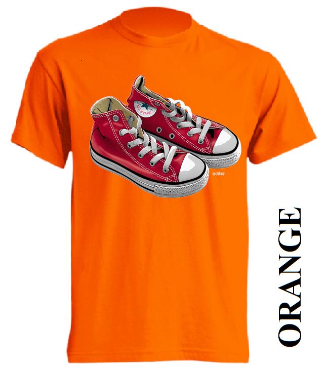 Oranžové dětské 3D tričko