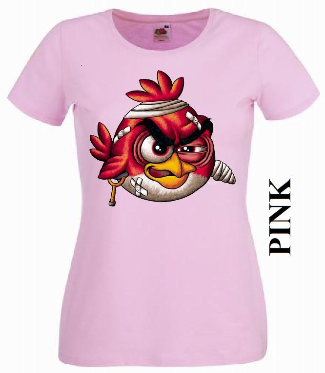 Světle růžové dámské 3D tričko