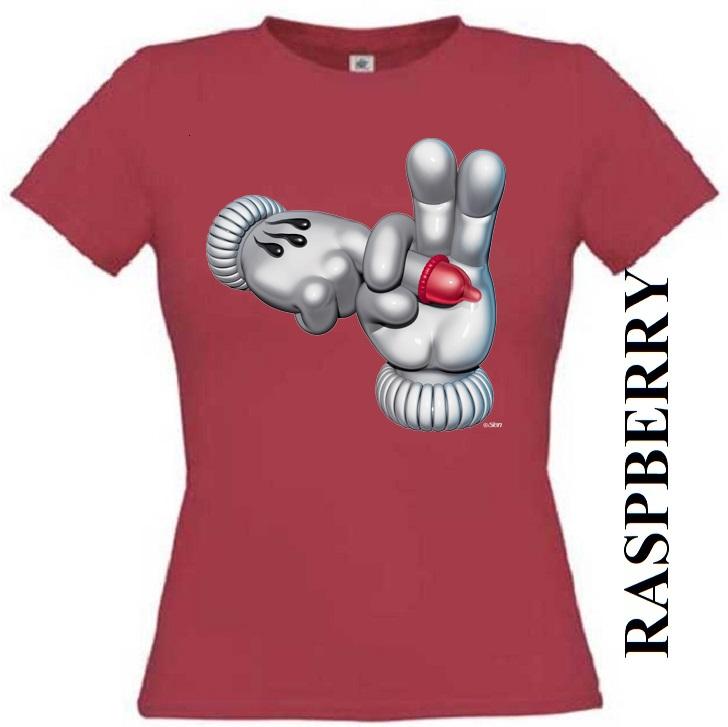 Malinově červené dámské 3D tričko