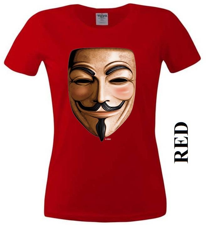 Červené dámské 3D tričko