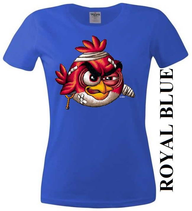 Modré dámské 3D tričko