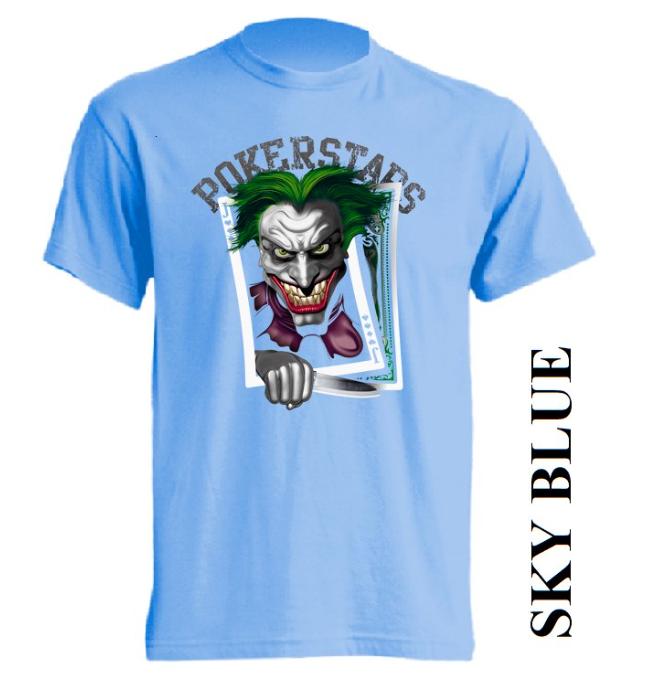 Světle modrá trička