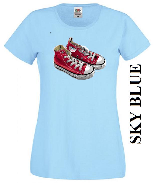 Světle modré dámské 3D tričko