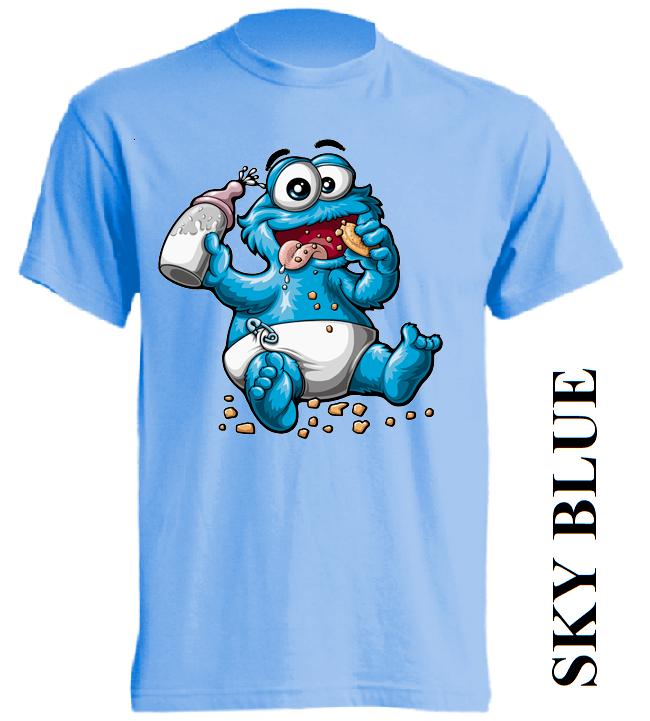 Dětská trička nebesky modrá