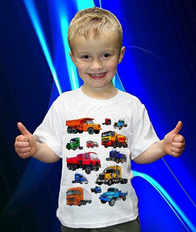 Dětská trička s potiskem nákladních aut
