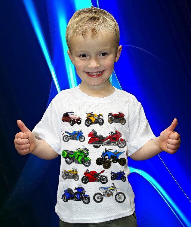 Dětská trička s potiskem motorek