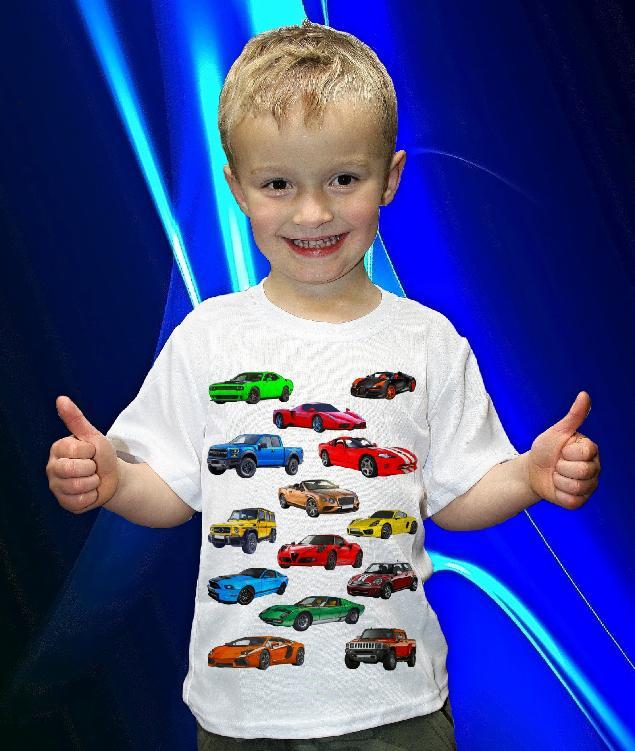 Dětská trička s potiskem aut