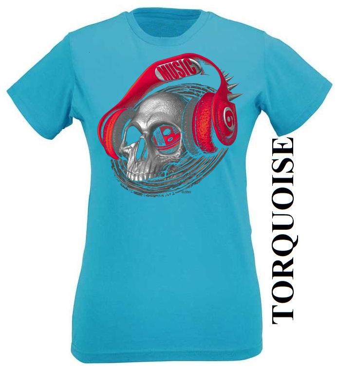 Tyrkysové dámské 3D tričko