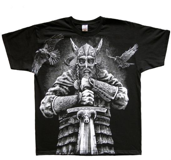 Oblečení s potiskem válečníků