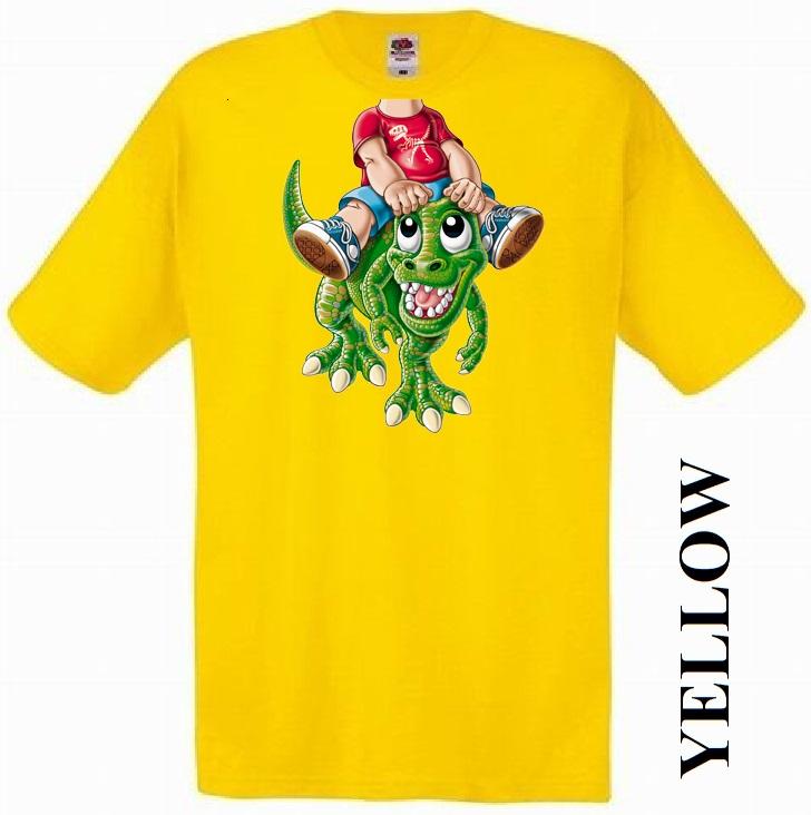 Dětská trička žlutá