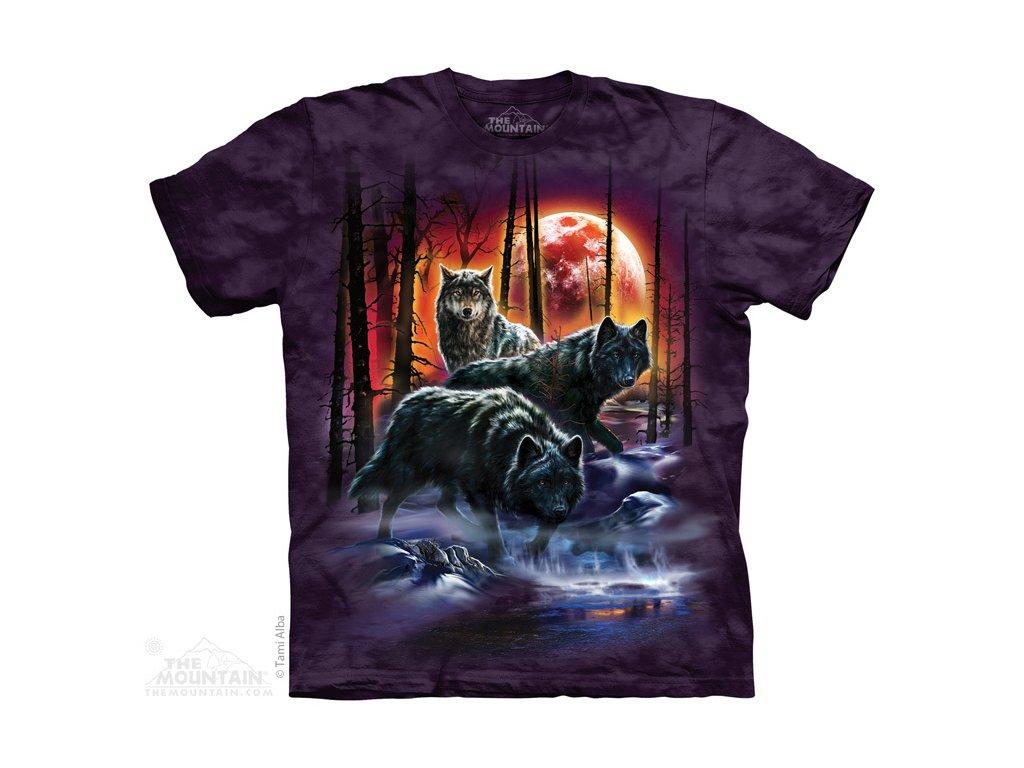 cb11d76c8224 Tričko s batikovaným potiskem the Mountain vlků v zemi ohně a ledu ...