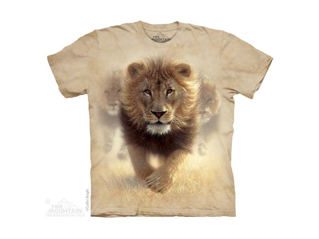 2347021b6a0c Tričko s batikovaným potiskem the Mountain běžícího lva