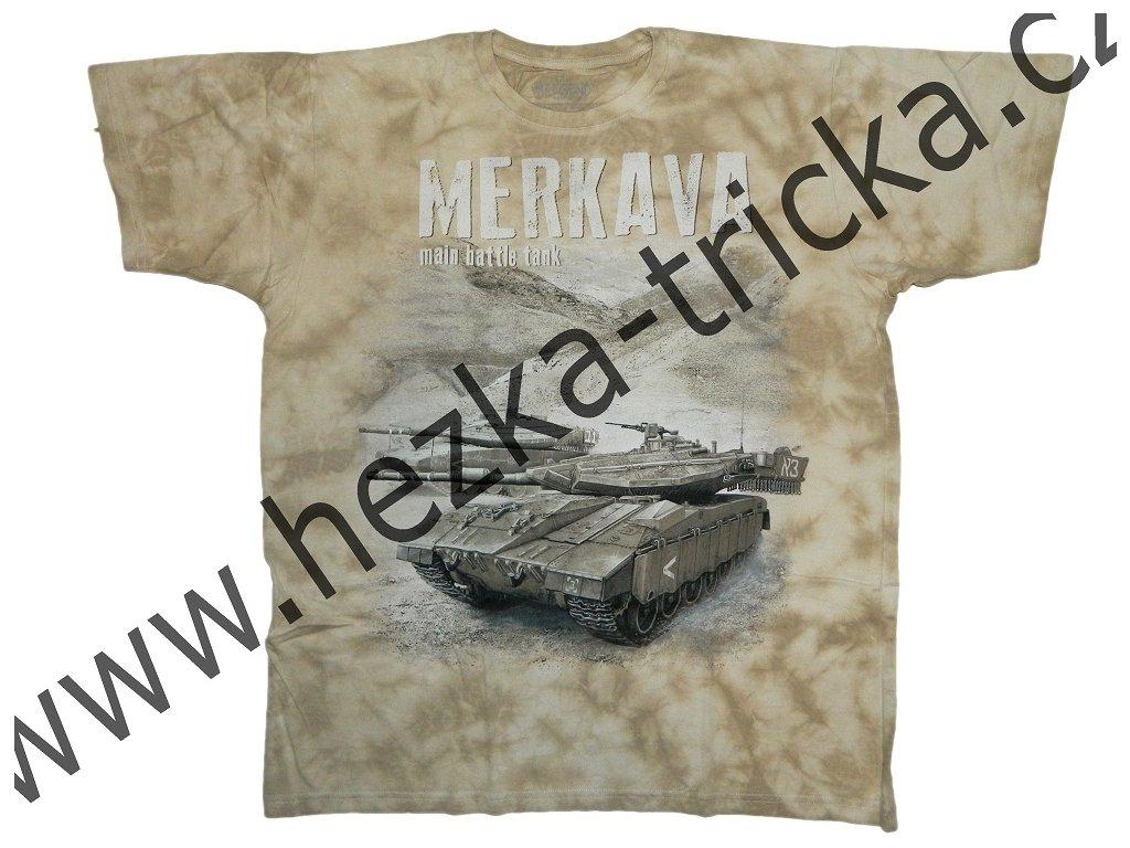 Military tričko s potiskem izraelského tanku Merkava 65719ea57d