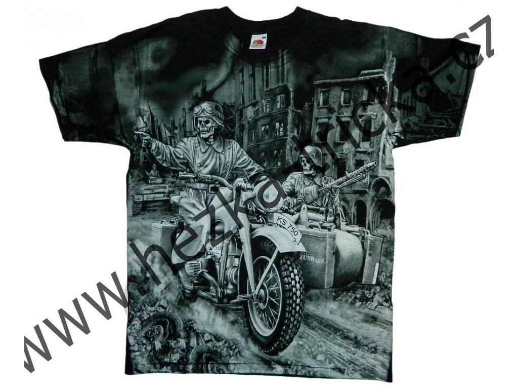 Military tričko s vtipným potiskem německé motorky Zundapp s ... d420fcc5d5