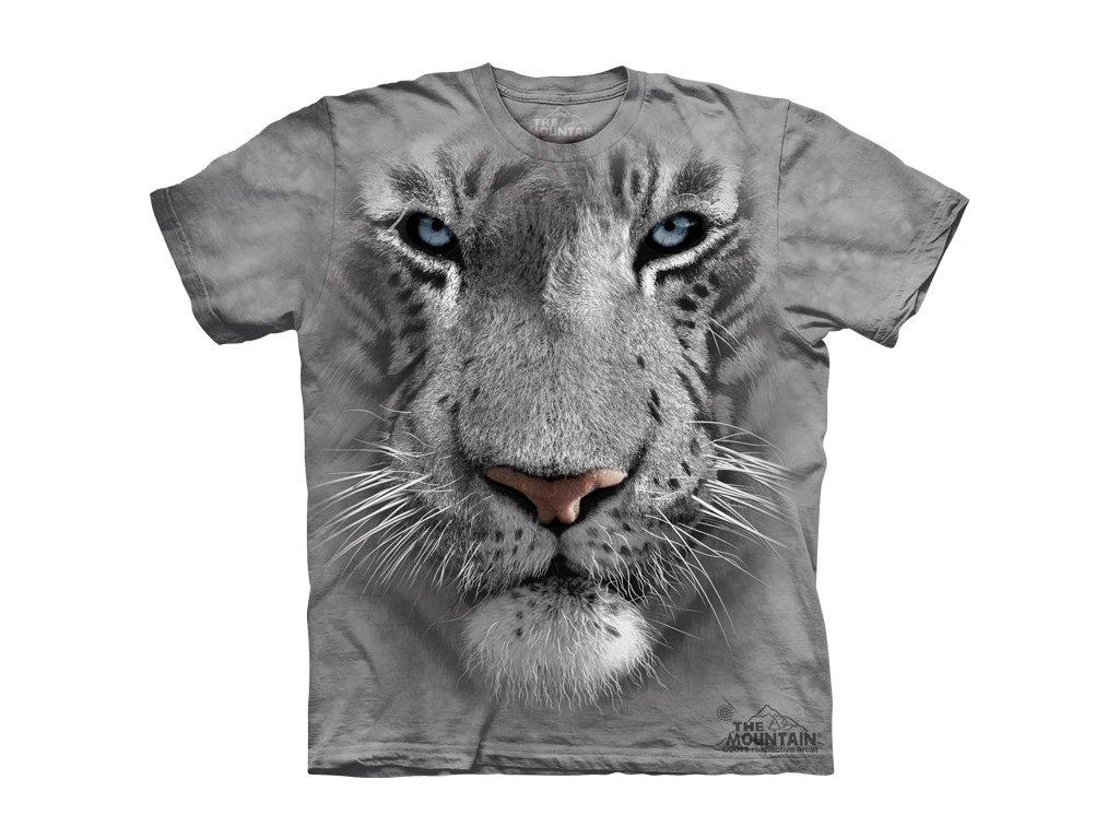 eece2b1364d Dětské bavlněné tričko s batikovaným 3D potiskem bílého tygra