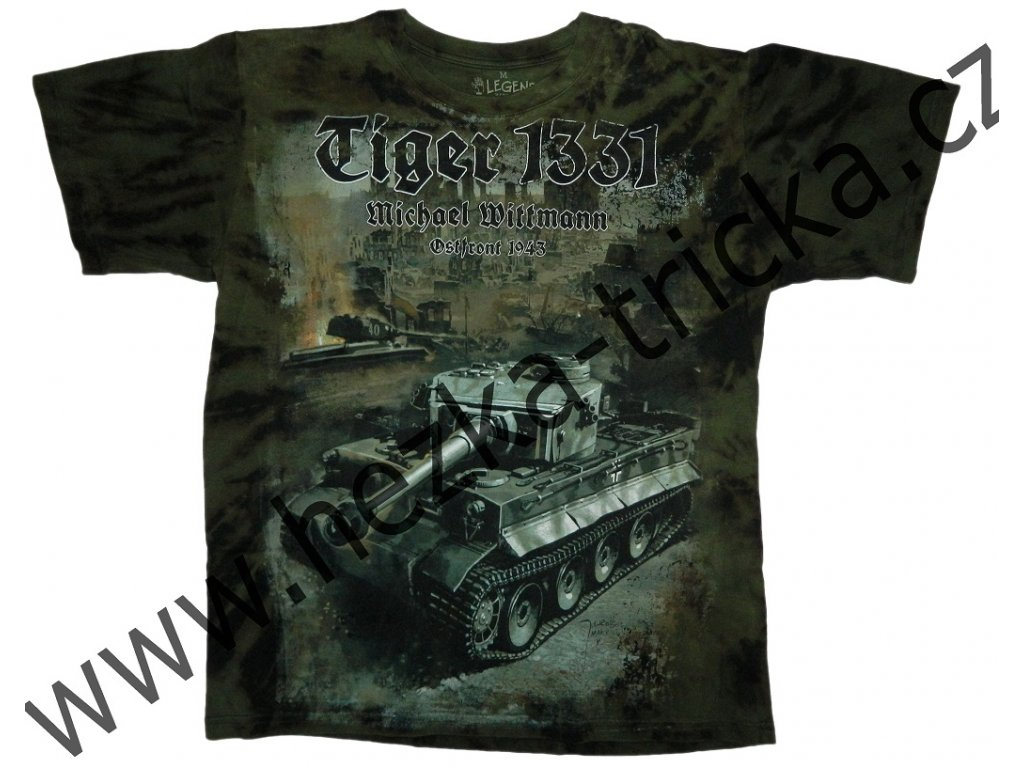 Military tričko s potiskem tanku Tiger 1331 Michaela Wittmana 19bbb73fe3