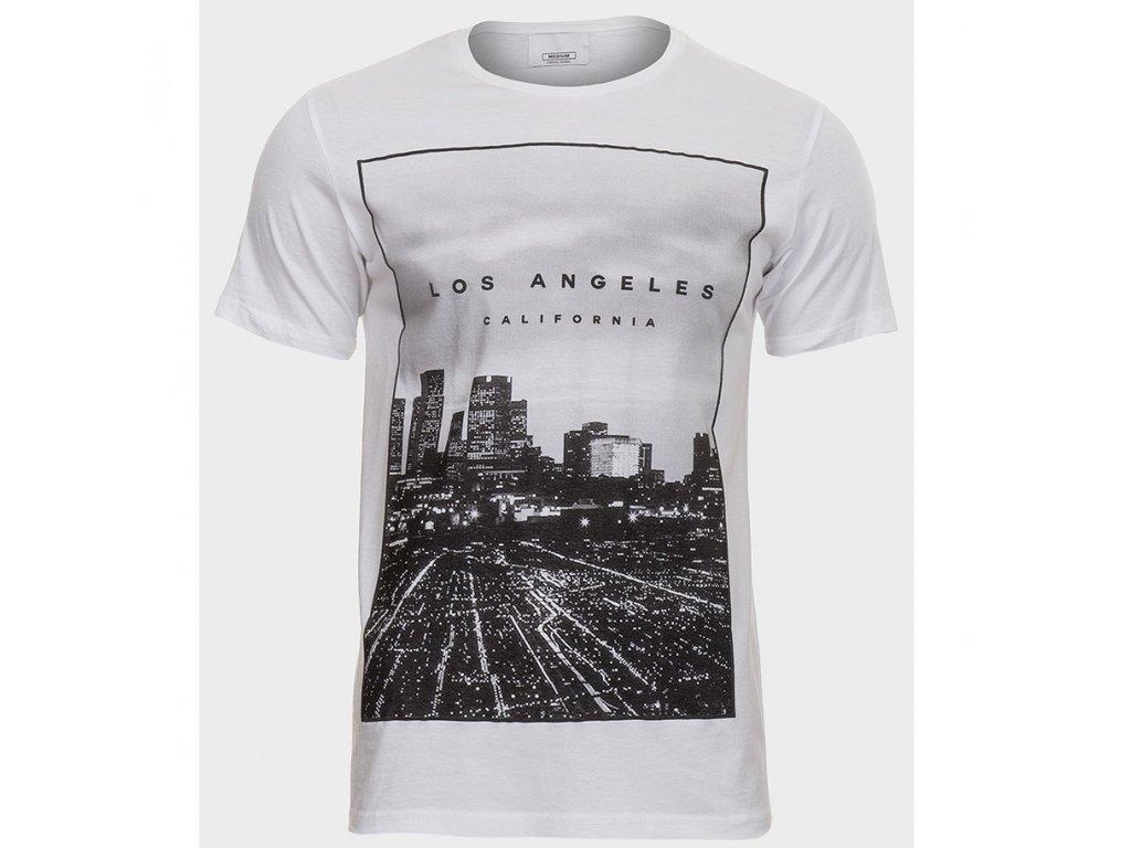 Pánské bílé tričko Los Angeles a41f9f178f