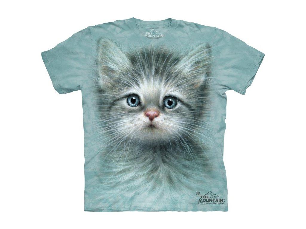 942a27c84690 Dětské bavlněné tričko s batikovaným potiskem krásného koťátka