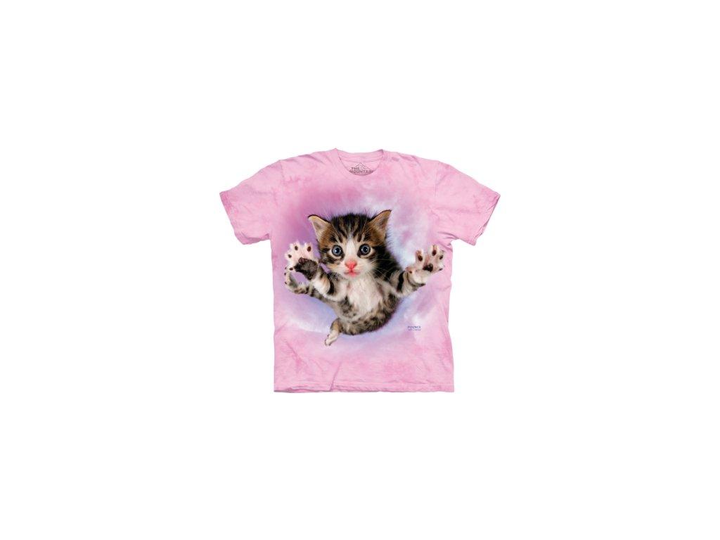 b01054d65cc DětsDětské bavlněné tričko s batikovaným potiskem hravého kotěteké ...