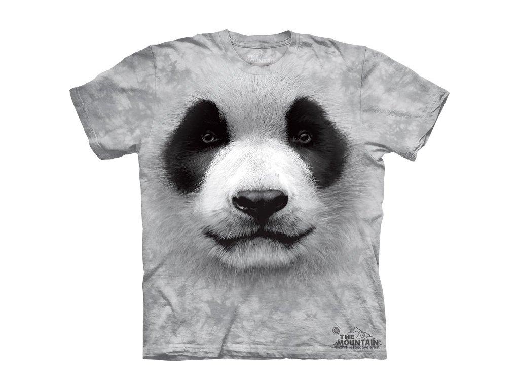 c864986d755 Dětské bavlněné tričko s batikovaným 3D potiskem pandy