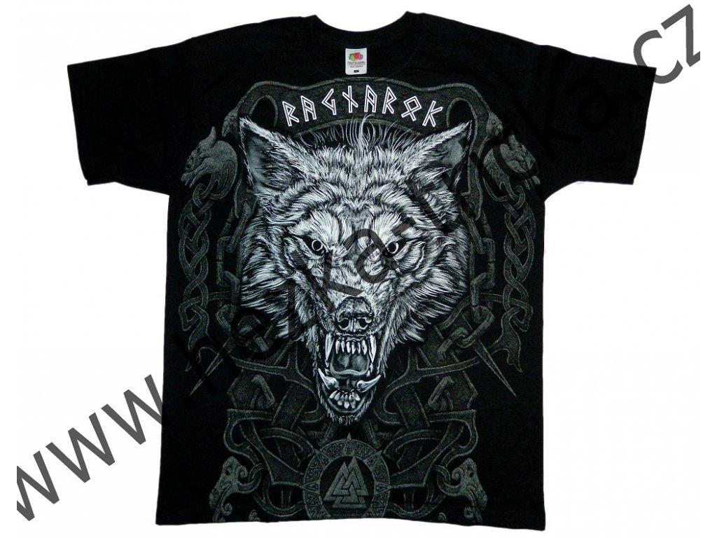 7e843513e29 tričko s potiskem vikingského vlka Fenrira
