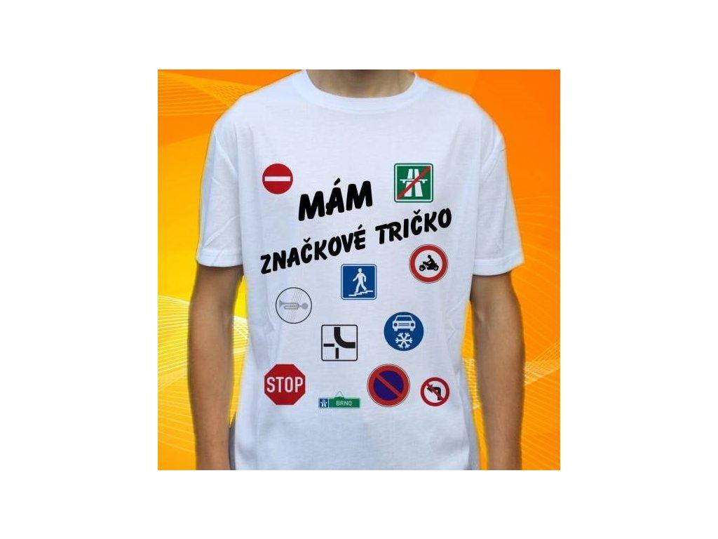 Dětské a pánské vtipné tričko s potiskem značek e58b32b301