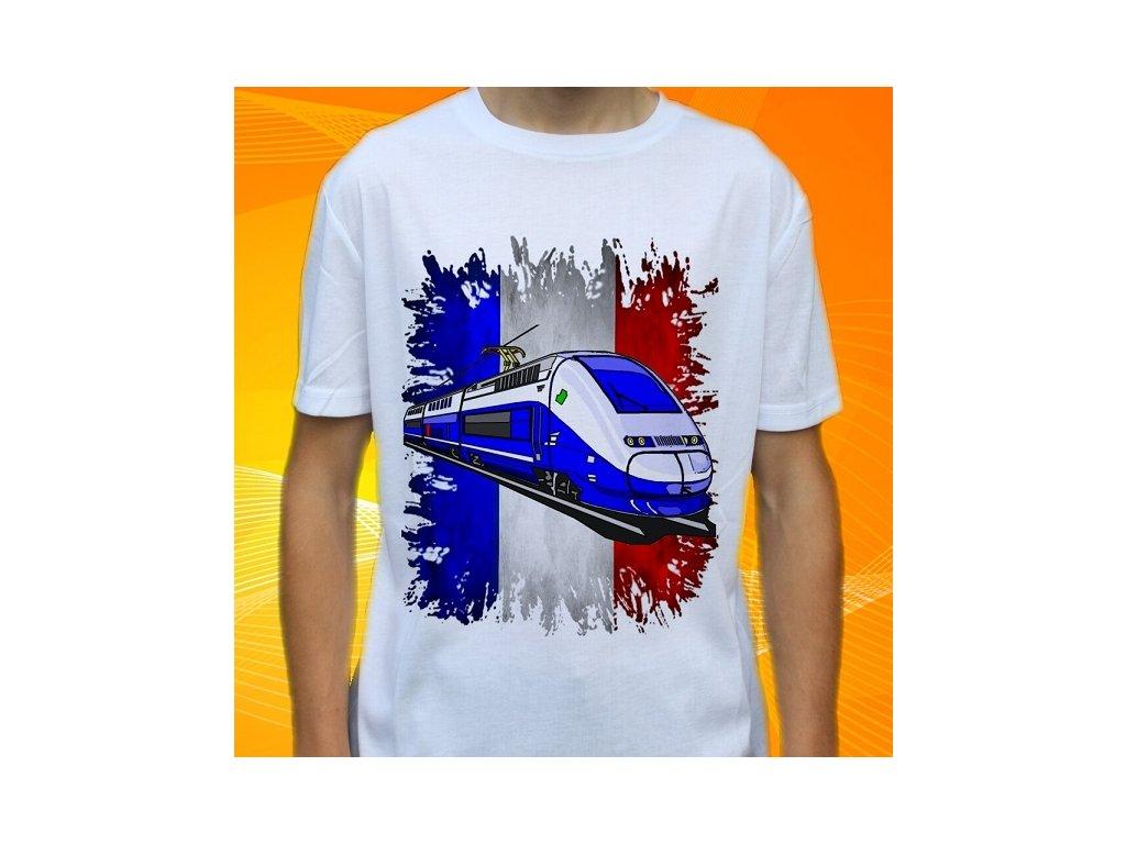 501cc788706a Dětské a pánské tričko s vlakem TGV7