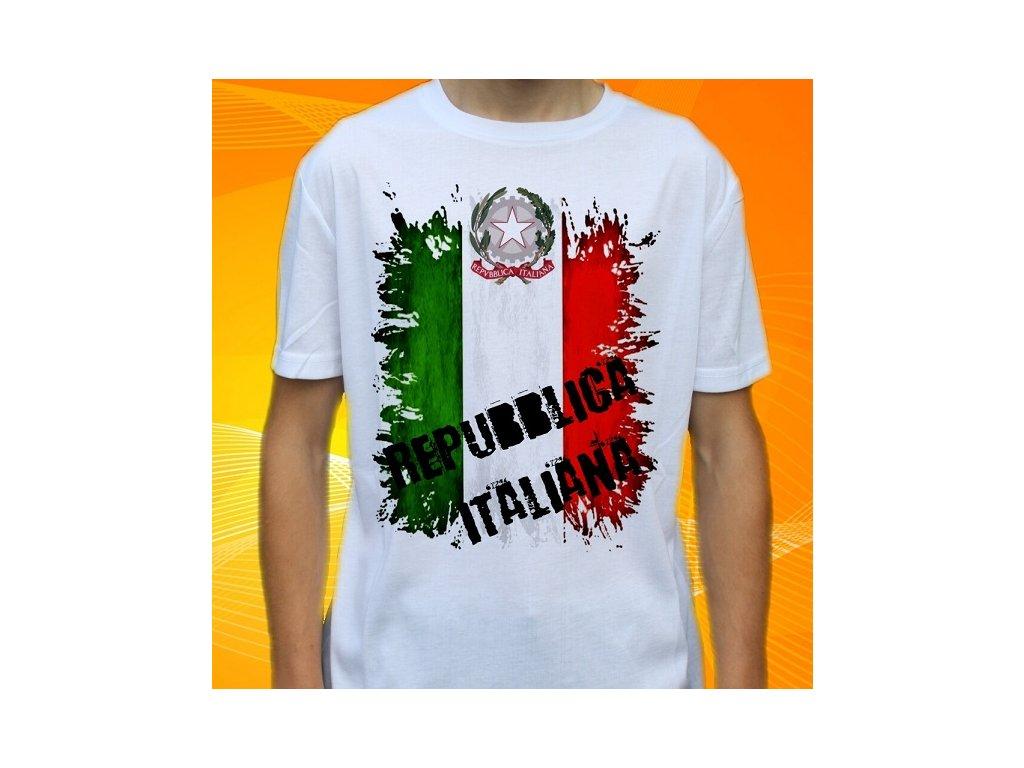 683664f5fff1 Dětské a pánské vtipné tričko s potiskem italské vlajky