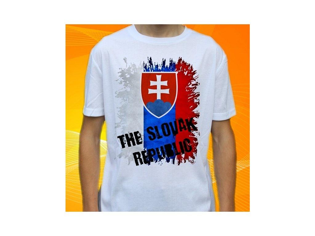 9fae4c2f8232 Dětské a pánské vtipné tričko s potiskem slovenské vlajky