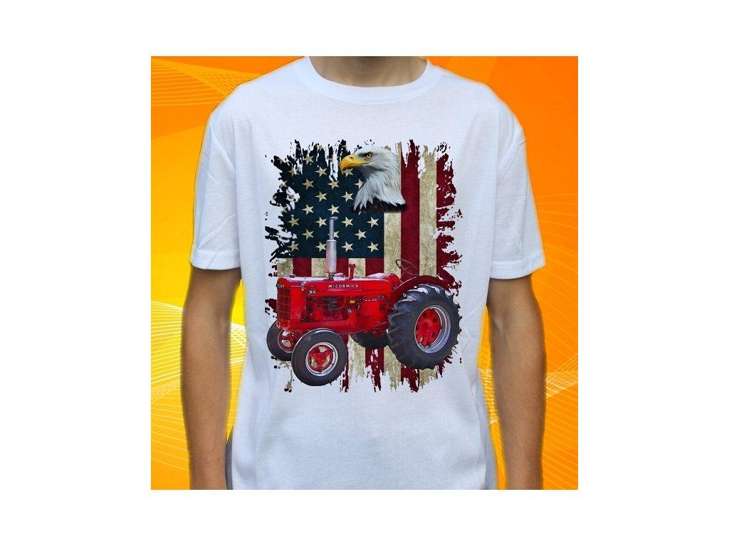 fec5576b1e02 Dětské a pánské tričko s traktorem McCormick Super W4