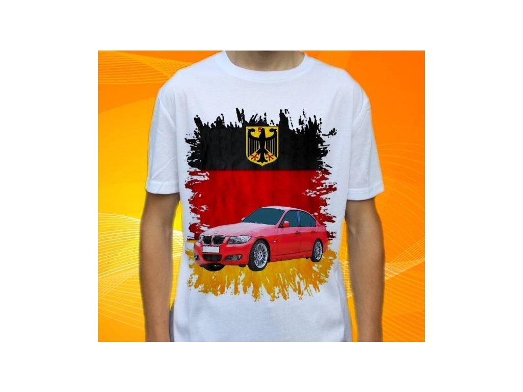 12e72314397c Dětské a pánské tričko s autem BMW E90