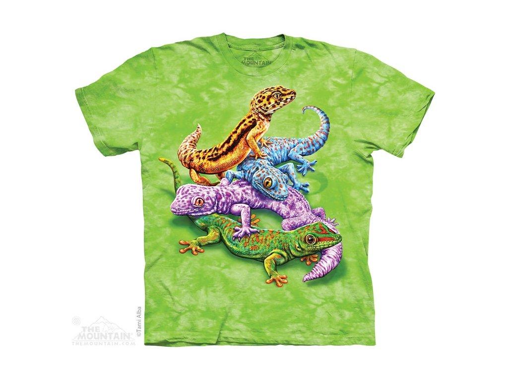 81df8dba9f79 Dětské bavlněné tričko s batikovaným potiskem gekonů