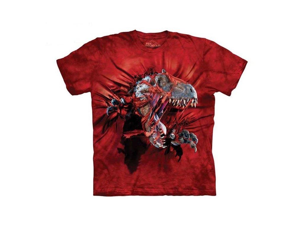 06823ecb2435 dětské tričko-bavlněné-batikované-potisk-trex-trhající tričko. 1 z 2
